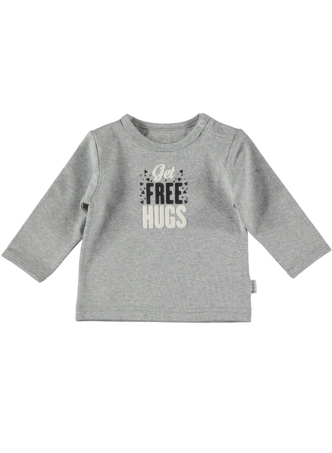Shirt Get Free Hugs - Grijs