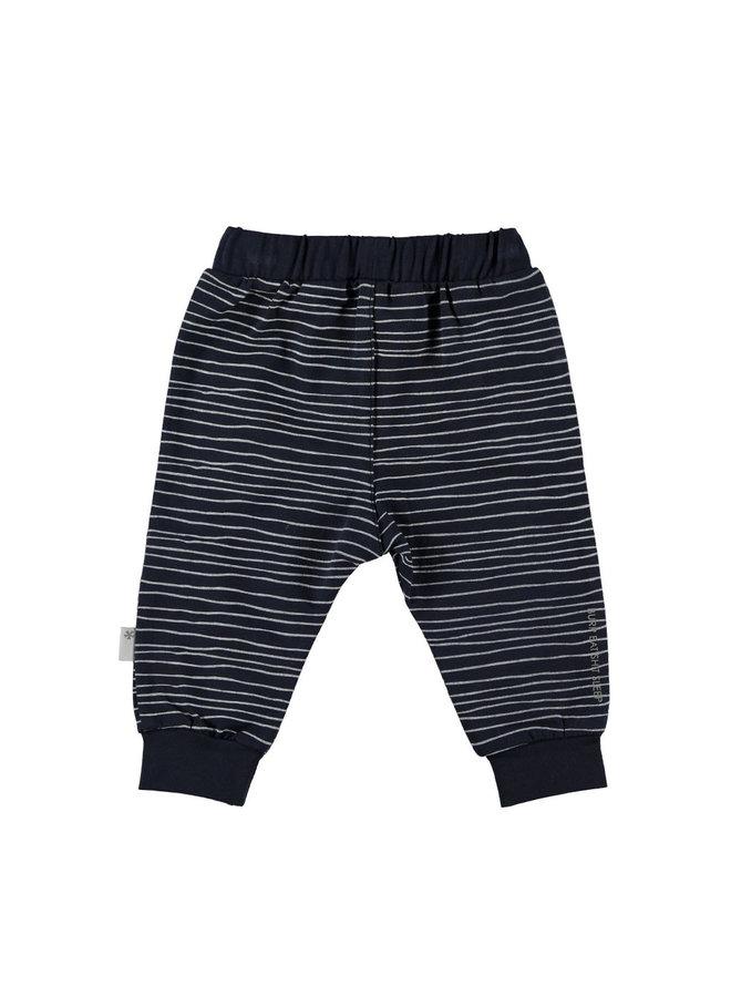 BESS-Pants Pinstripe - Blauw
