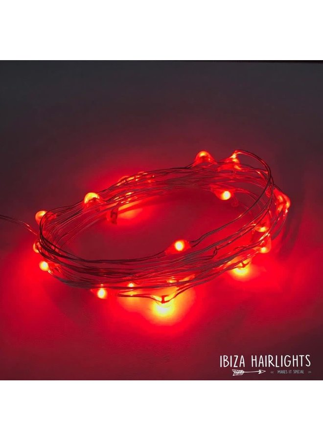 Ibiza Hairlights Red