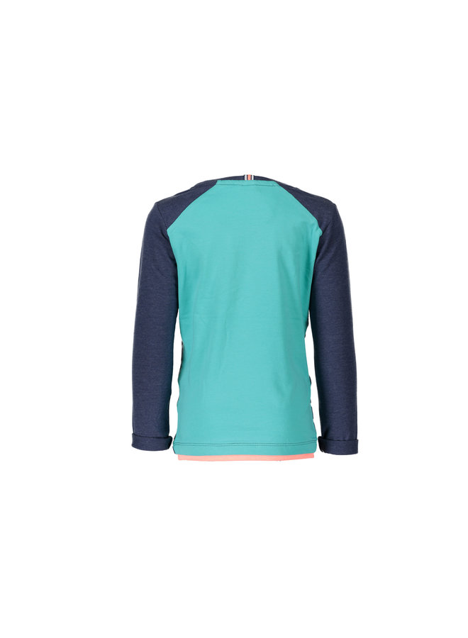Shirt Stripe - Blueberry/White - Let op: valt één maat ruimer!