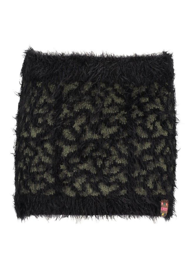 Panther Knitted Skirt Black
