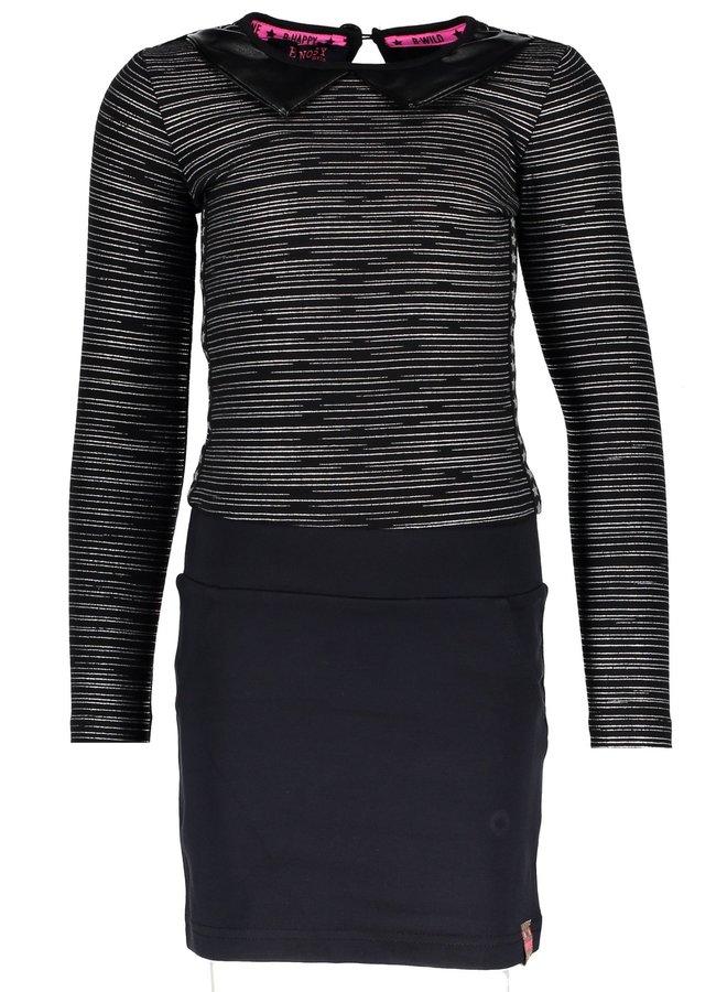 Dress Black Silver Foil