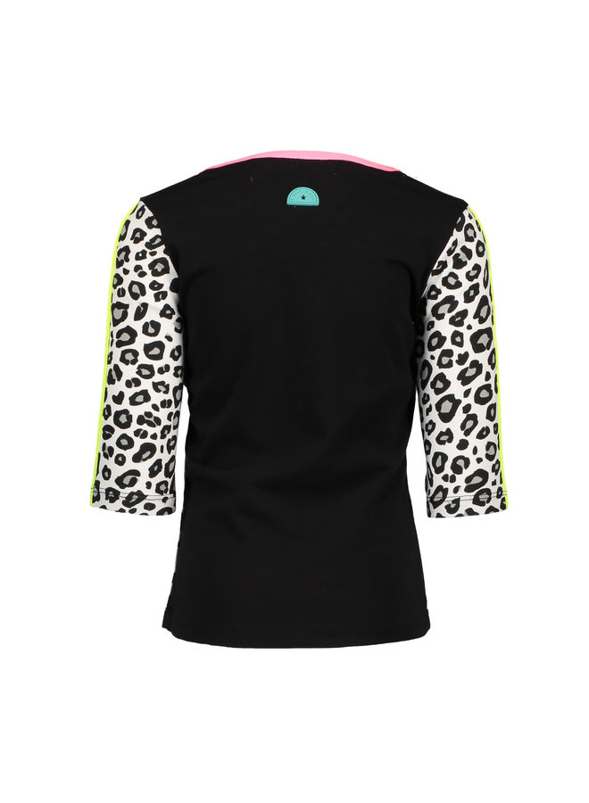 Shirt 1/2 Sleeve Thunderstorm - White Panther Black