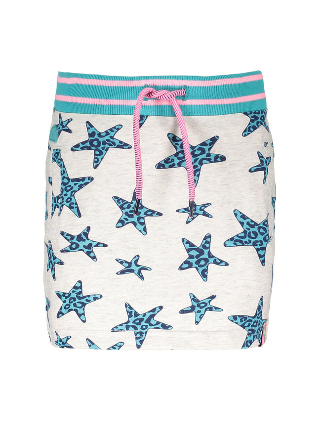 Skirt Panther Stars - Ecru Melee