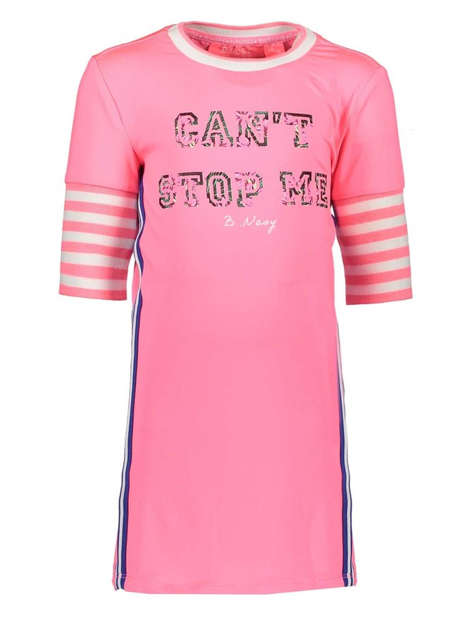 Dress with Rib Sleeves - Candy
