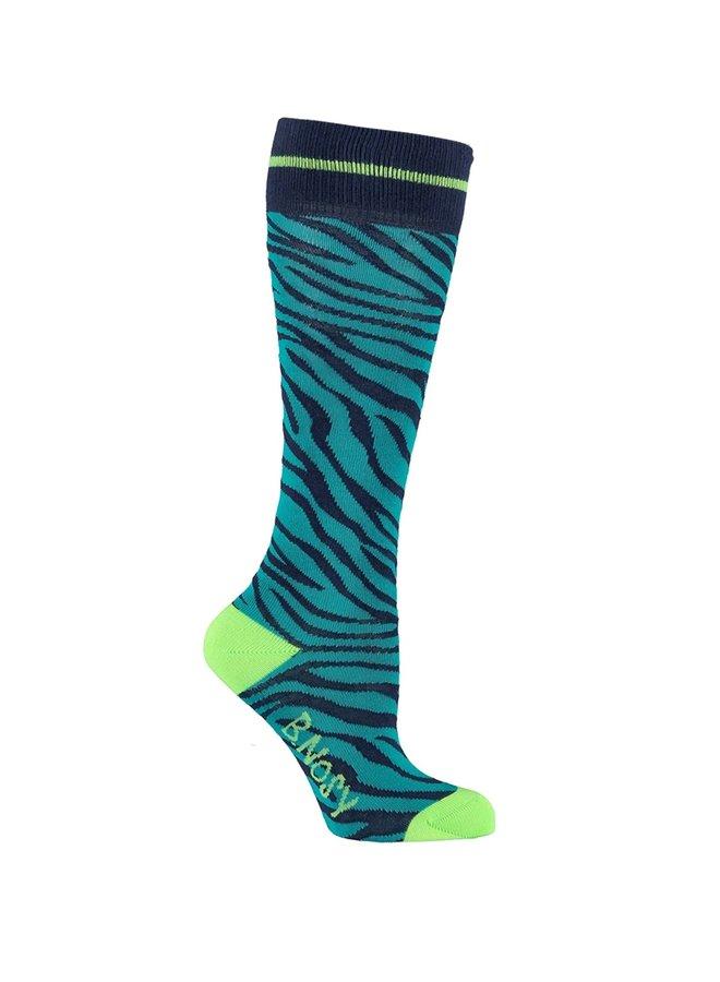 Socks Zebra - Lagoon