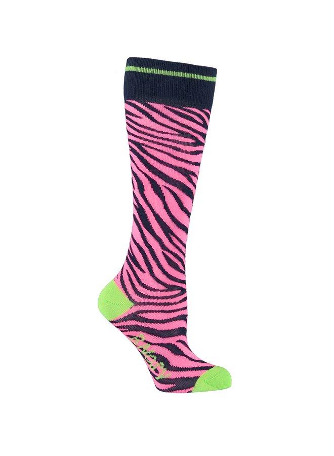 Socks Zebra - Shocking Pink