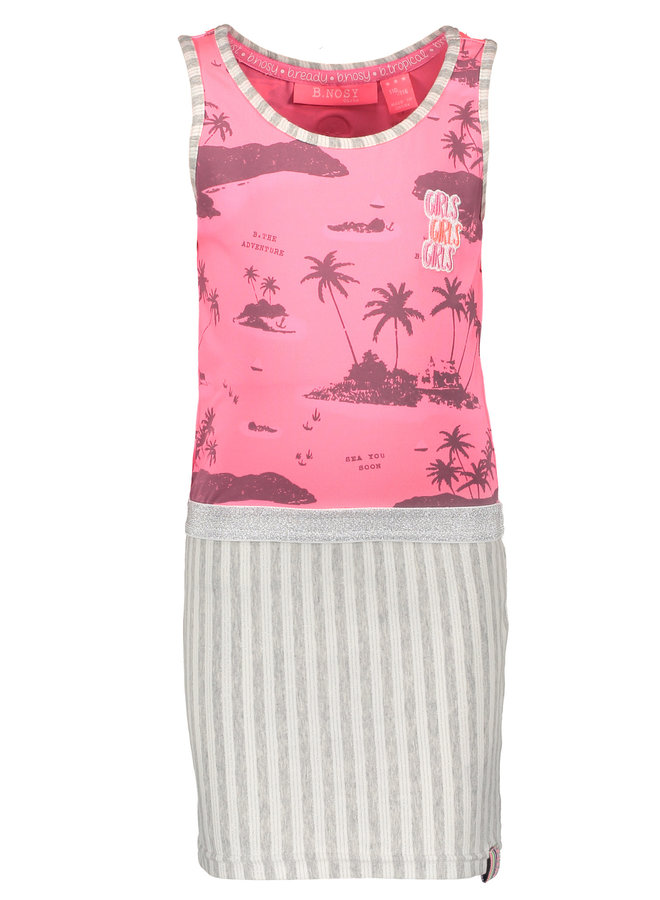 Dress Aloha Top & Stripe Skirt