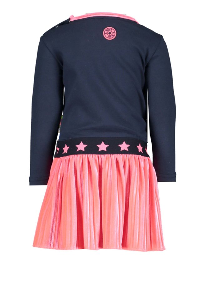 Dress Embroidery Lips - Shocking Pink