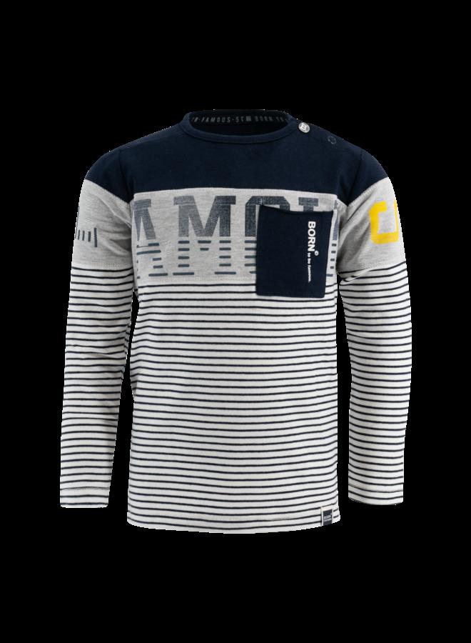 Shirt Navy Stripe
