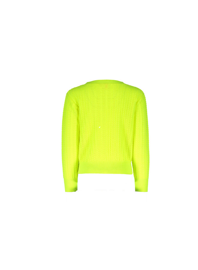 Knitted Cardigan Neon Yellow
