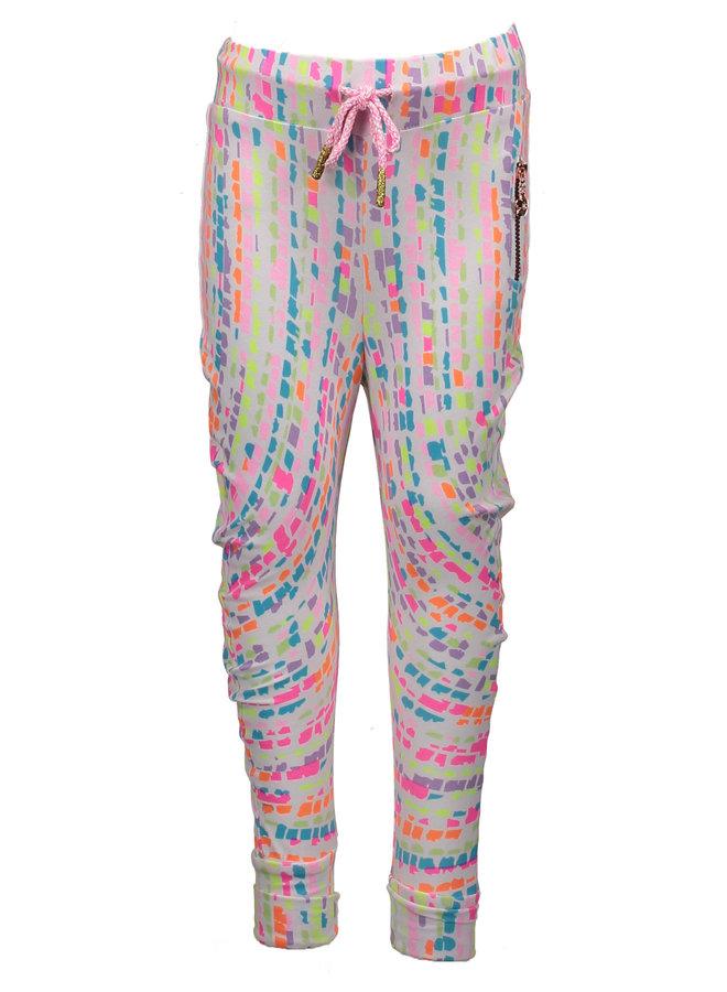 Harem Trousers Rain Print