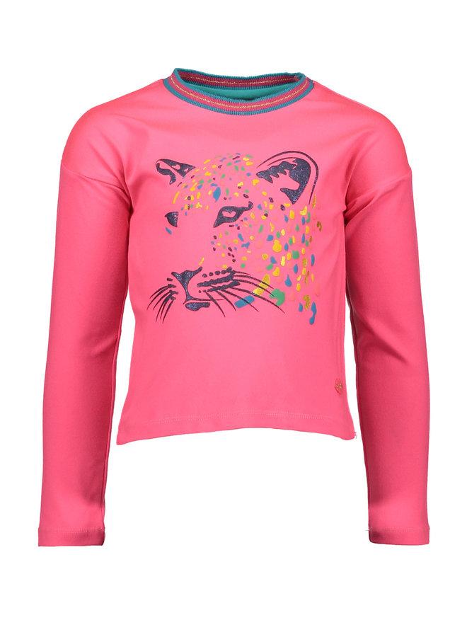 Shirt Lion - Neon Pink