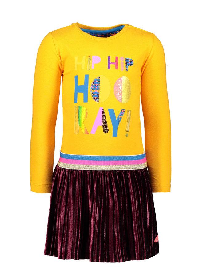 Dress Hip Hip Hooray - Yellow/Bordeaux