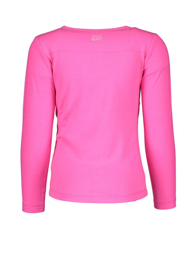 Shirt Sequins Artwork - Neon Fuchsia