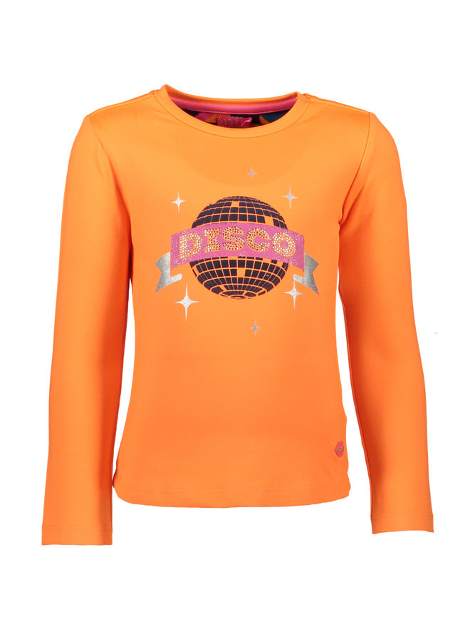 Shirt Disco Ball Neon Orange