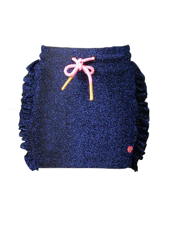 Fancy Ruffle Skirt - Dark Blue
