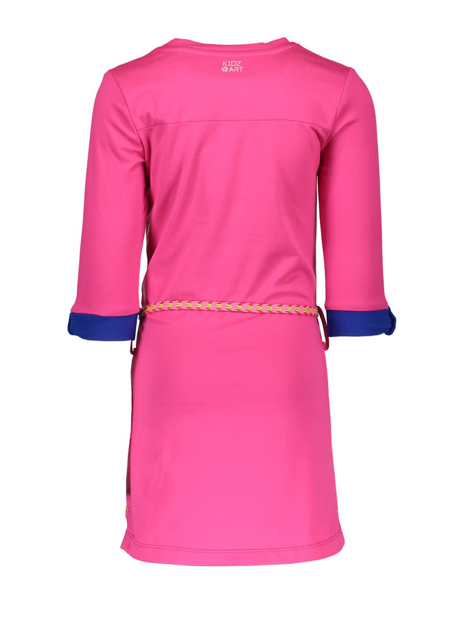 Dress Panel Stripe - Neon Fuchsia