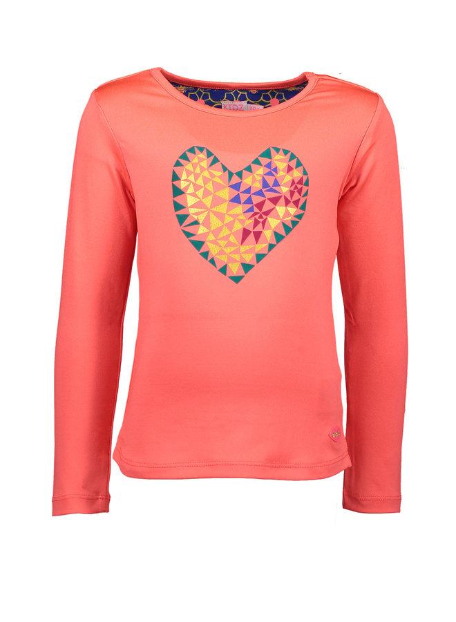 Shirt Heart - Neon Diva Pink