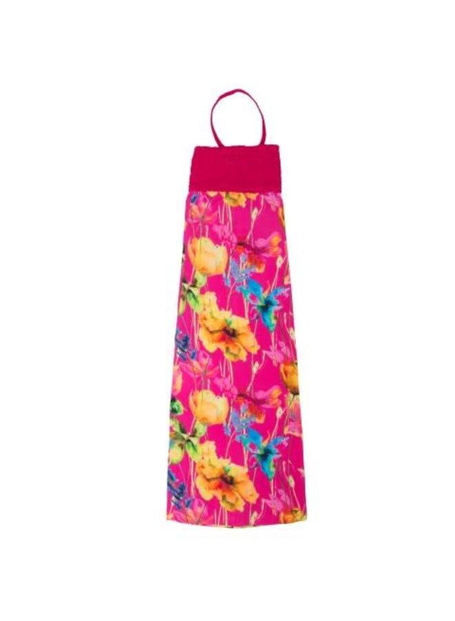 Smocked Dress Ecuador - Flowers On Pink