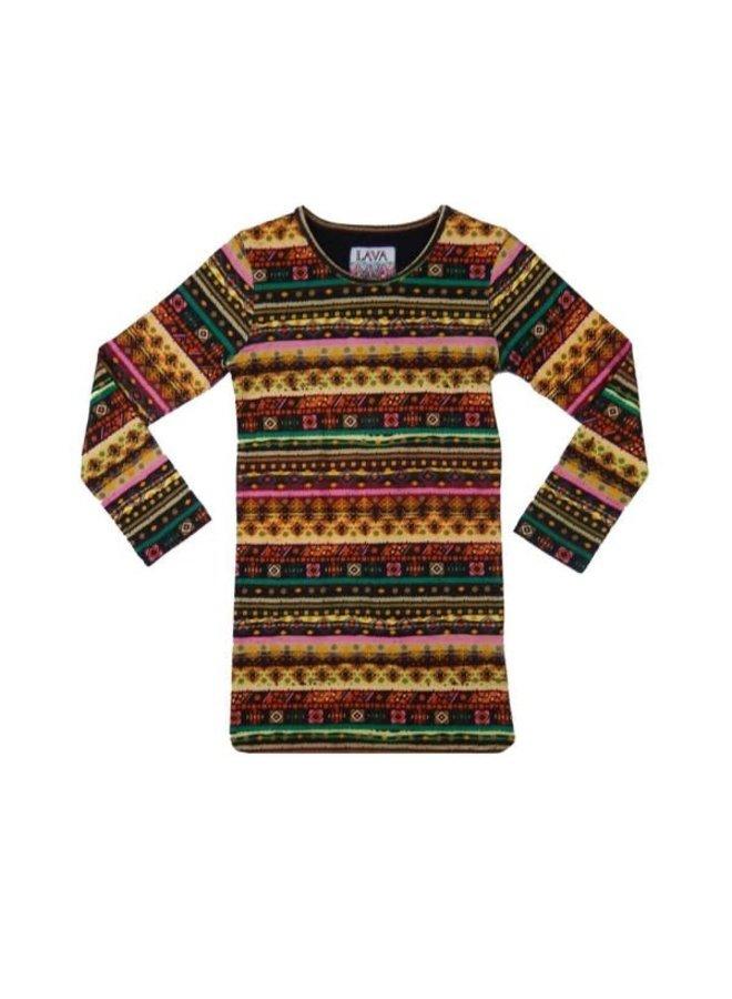 Dress Aztec - Boho Print Recht