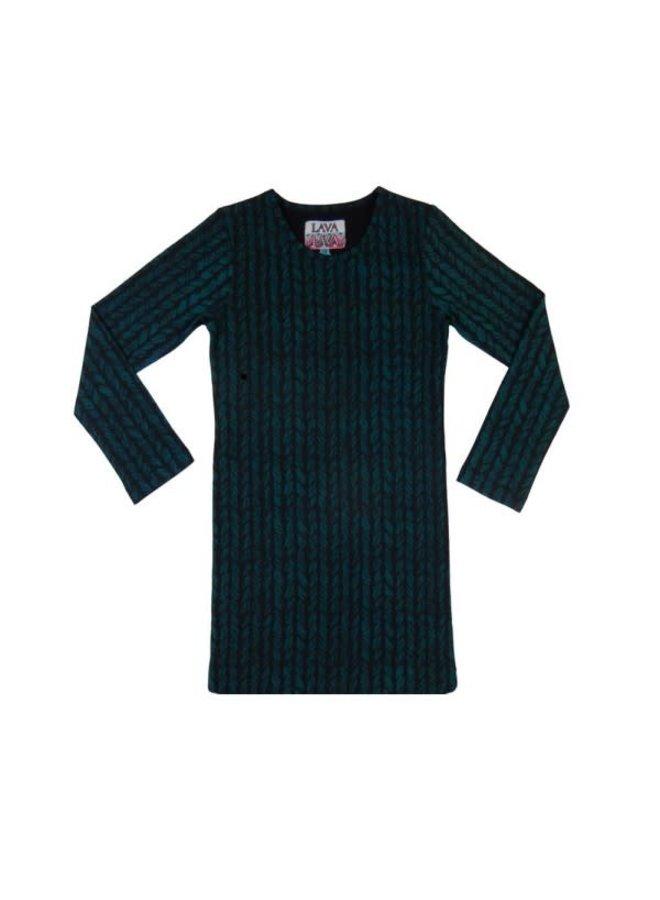 Dress Aztec - Petrol and Wool Print Recht
