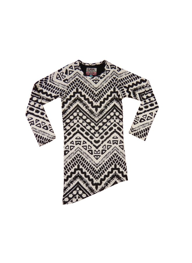 Dress Aztec - Black and White