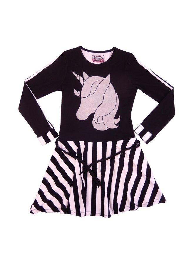 Dress Unicorn - Black/White