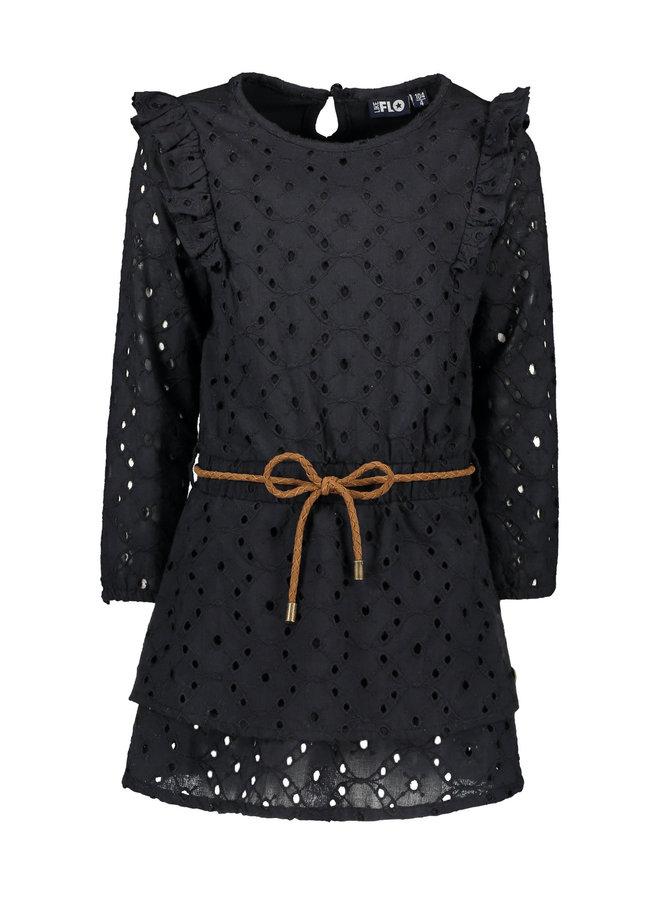 Embroidery Dress - Black
