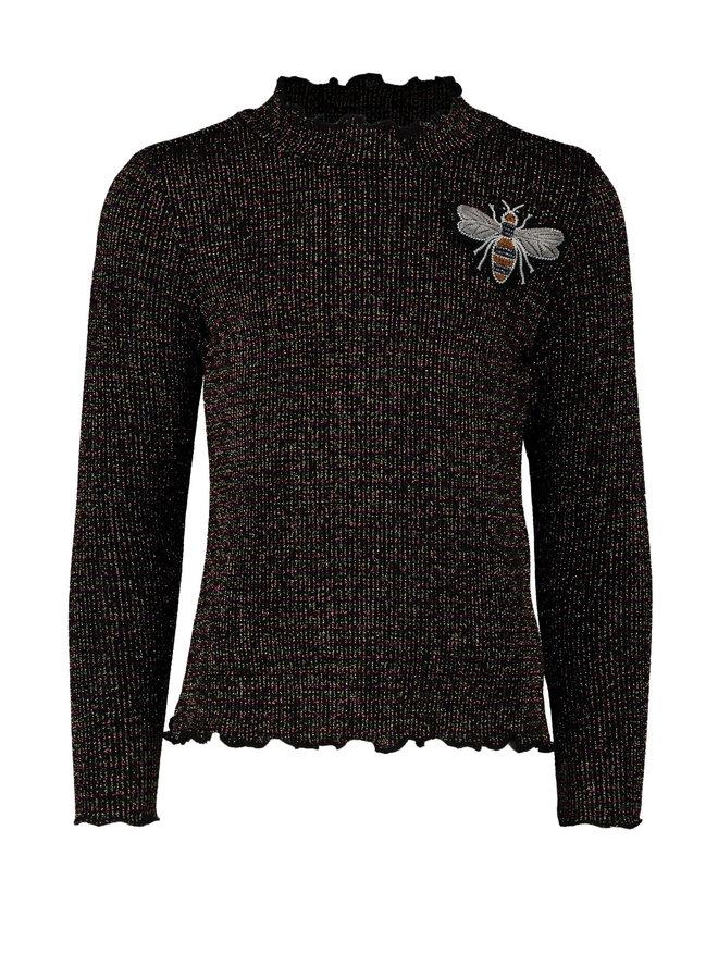 Shirt Rib Turtle Neck Bronz