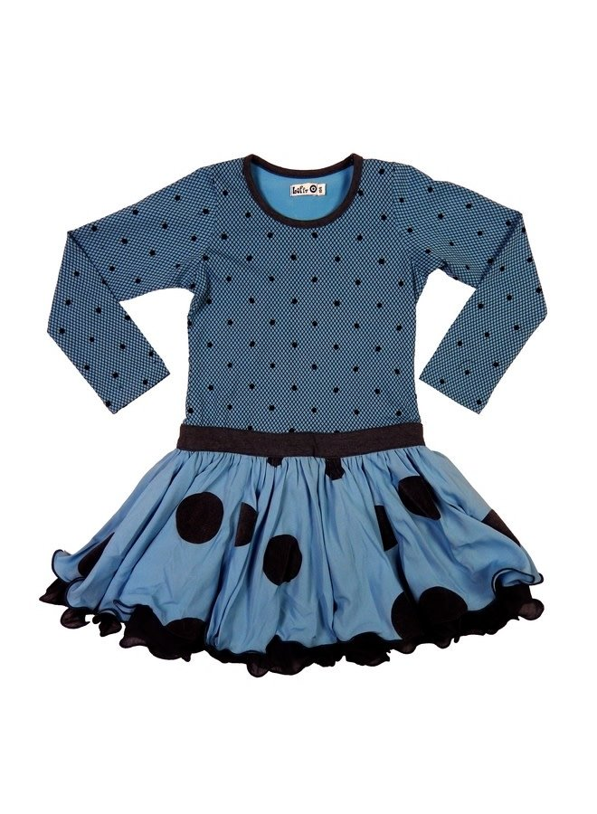 Spanish Dress - Indian Blue/Grey