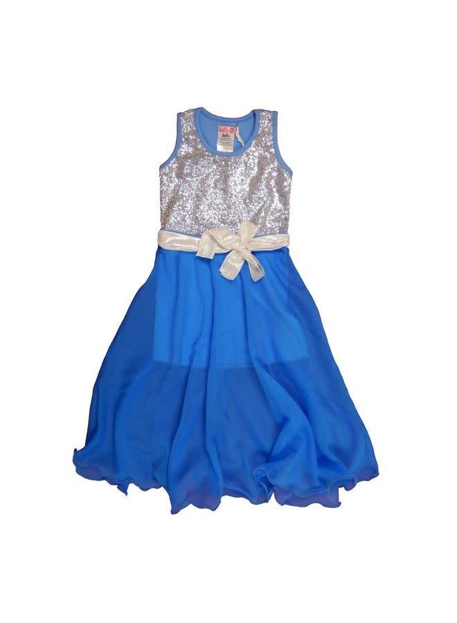 Festive Maxi Dress Skye Blue