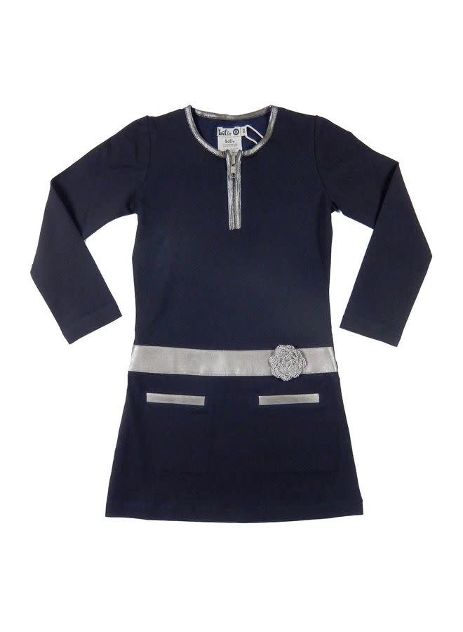 Favorite Dress - Dark Blue/Silver