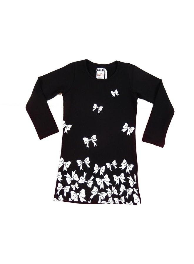Flying Bow Dress - Black/White