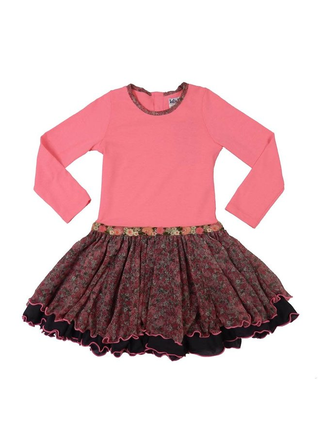 Dancing Dress - Pink Coral/Flowers