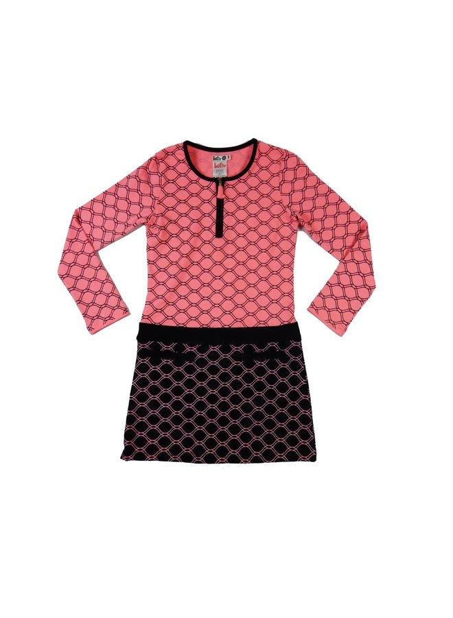 Favourite Dress - Pink Coral/Black