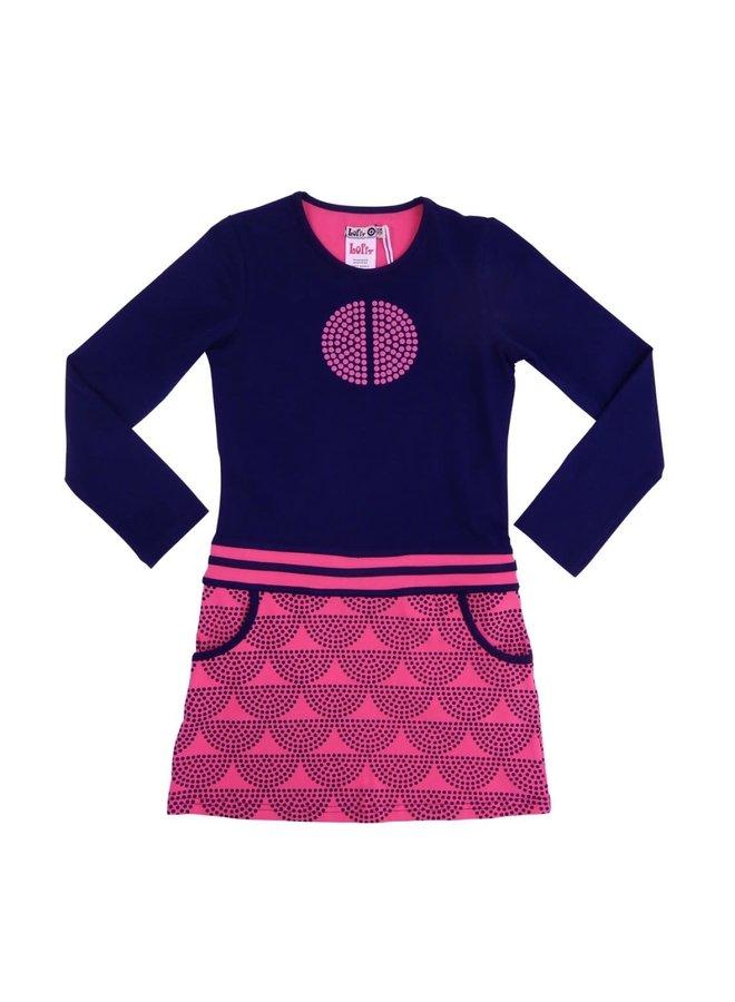 Dress Sportivo - Dark Blue/Fuchsia