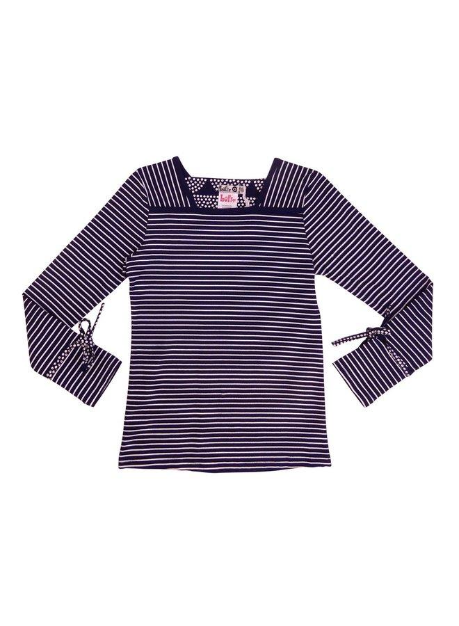 Shirt Striped - Dark Blue/Off White