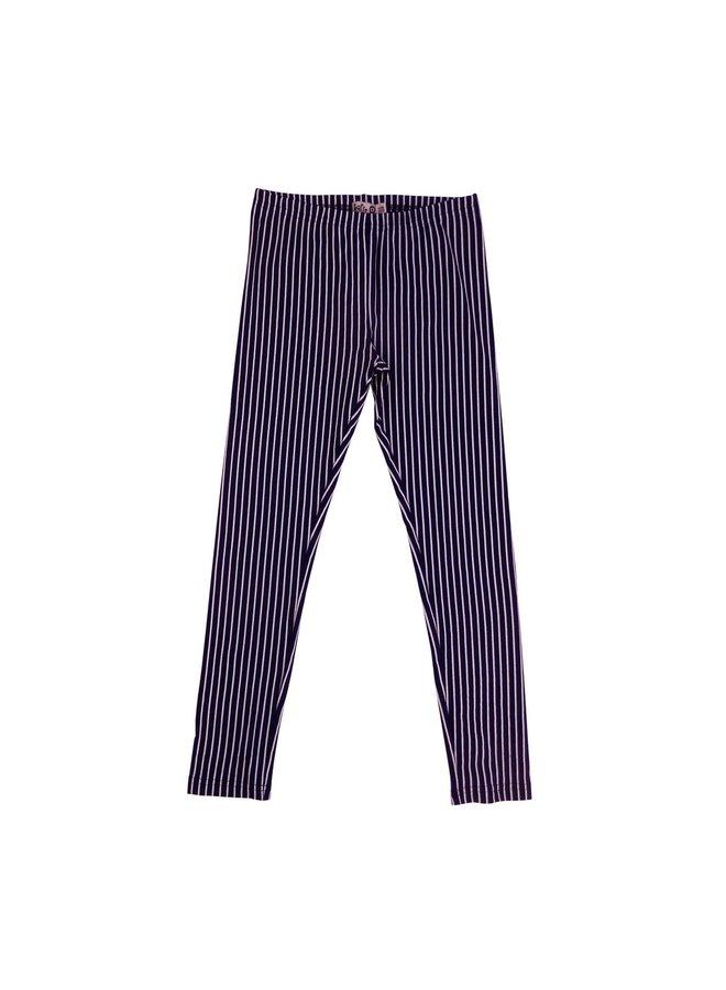 Legging Striped - Dark Blue/Off White