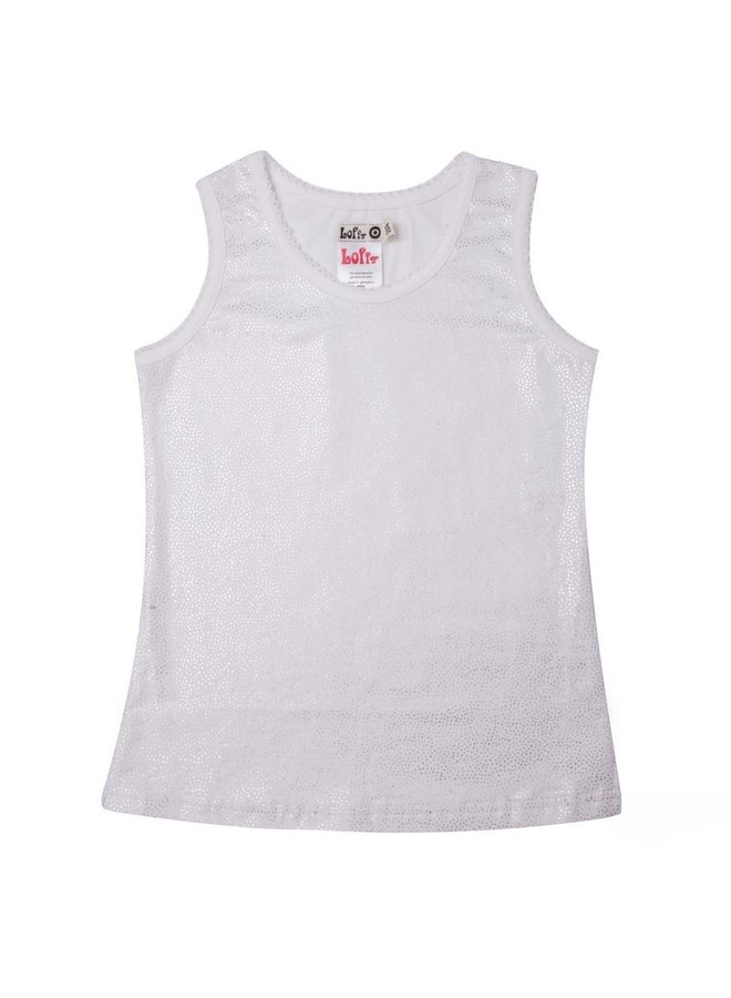 Tanktop Dotted - White Silver