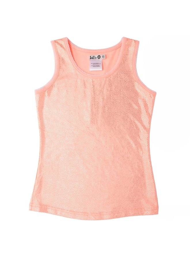Tanktop Dotted - Light Coral Neon Gold
