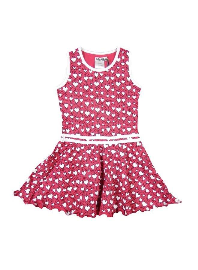 Heart Dress Flaring Pinks