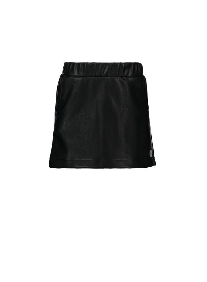 Leatherlook Skirt - Black