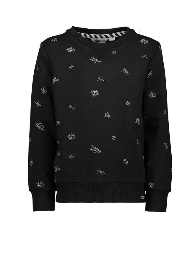 Sweater Print - Black