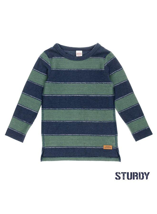 Shirt Blue/Green Stripe Outsiders