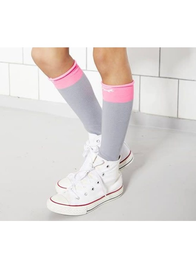 Socks Bianca Grey/Pink