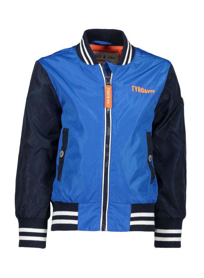 Baseball Jacket - Bright Blue