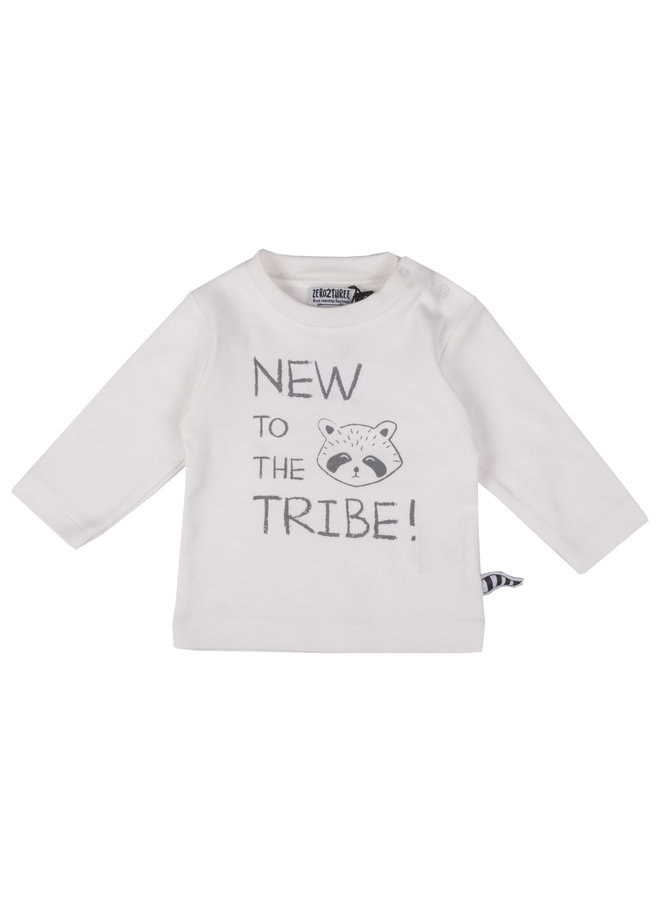 Shirt New To The Tribe! - Wit