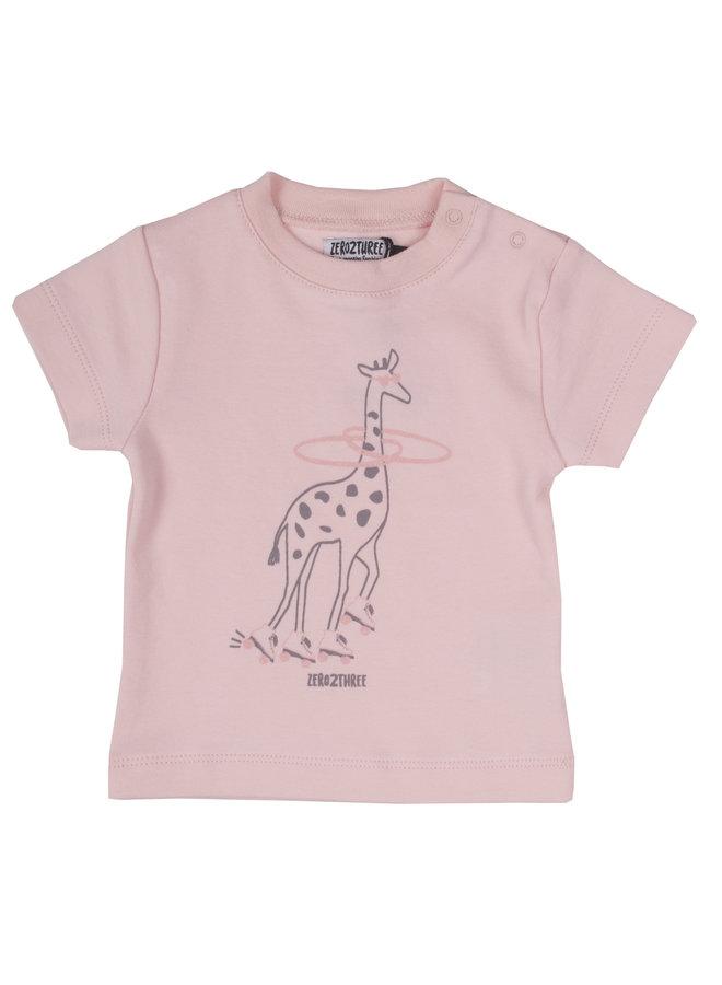 Shirt Giraffe - Roze