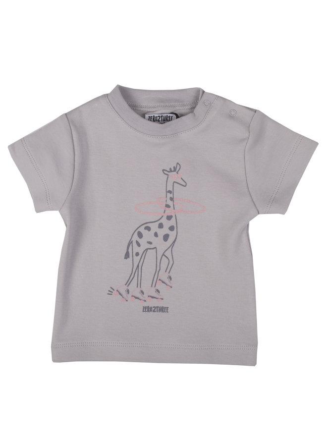 Shirt Giraffe - Grijs